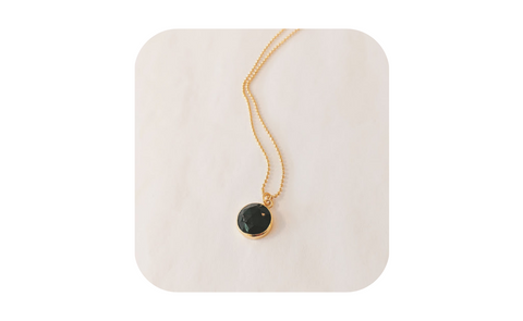 Terra Norte - Bryn necklace featuring black onyx and 14K gold plate.