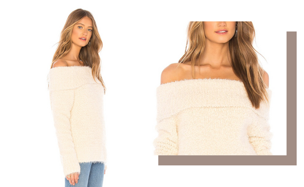 Off the shoulder knit by Mink Pink -- Click to shop online!