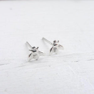 Bee Studs - Silver