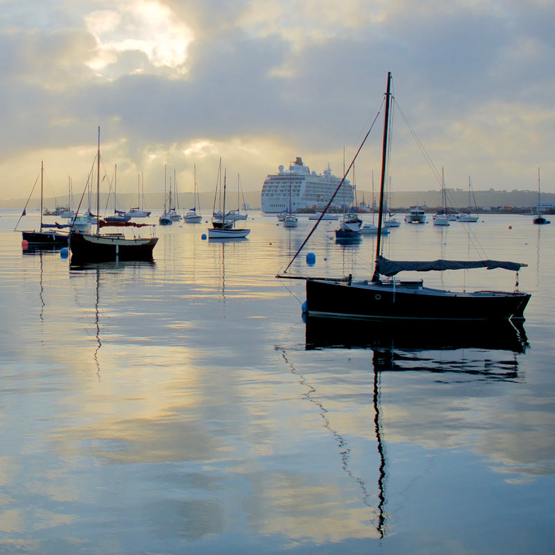 Reflections in Falmouth Harbour