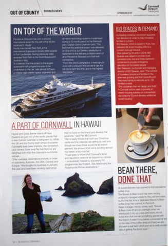 Business Cornwall December 2017 article