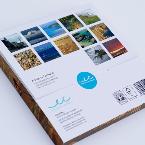 Gift Pack - A Year in Cornwall - 12 blank greetings cards with envelopes