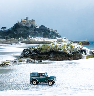 St Michael's Mount in Snow