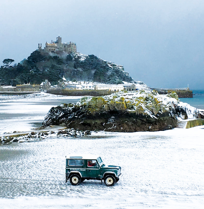 St Michael's Mount in Snow Christmas card