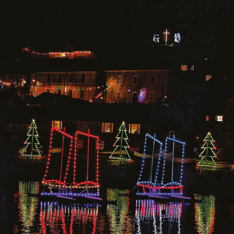 I Saw Two Ships, Mousehole Lights, Christmas card