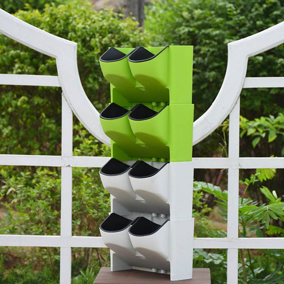 Self Watering Flower Pot Stackable Vertical Planter Wall Hanging Durable For Garden Balcony UYT Shop - ShopGhDs