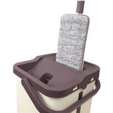 Hard Floor Lazy Mop Bucket Magic Cleaner Rotate Self-wringing Squeeze Double Sided Swab Rags Automatic Wash-Drying System - ShopGhDs