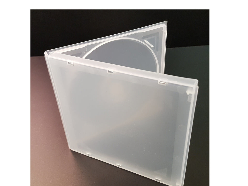 POLY JEWEL BOX SINGLE HOLD CLEAR - 200 PACK - Churchavs.com