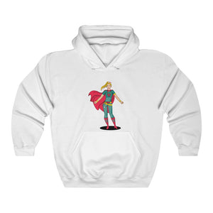 Super Woman Heavy Blend Hooded Sweatshirt