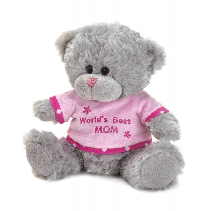 Mother's Day Worlds Best Mom Bear Plush