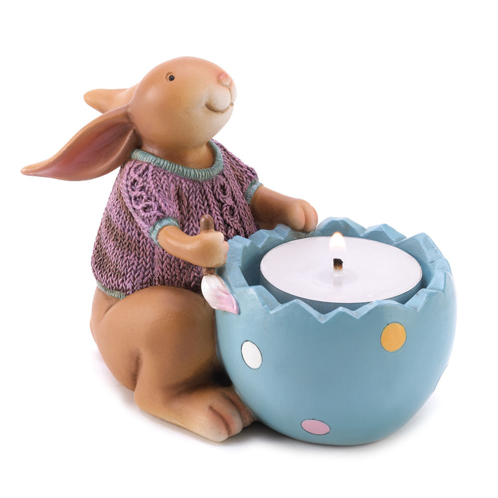 Easter Adorable Snuggle Bunny Tealight Holder