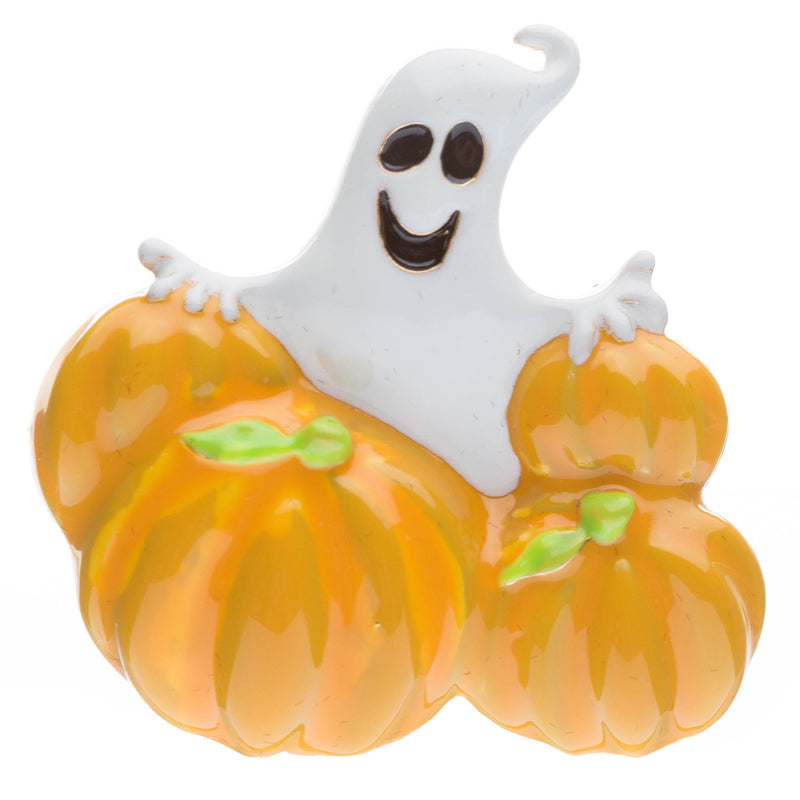 Halloween Costume Jewelry Ghost Pumpkins Charm Fashion Brooch Pin Gold Orange