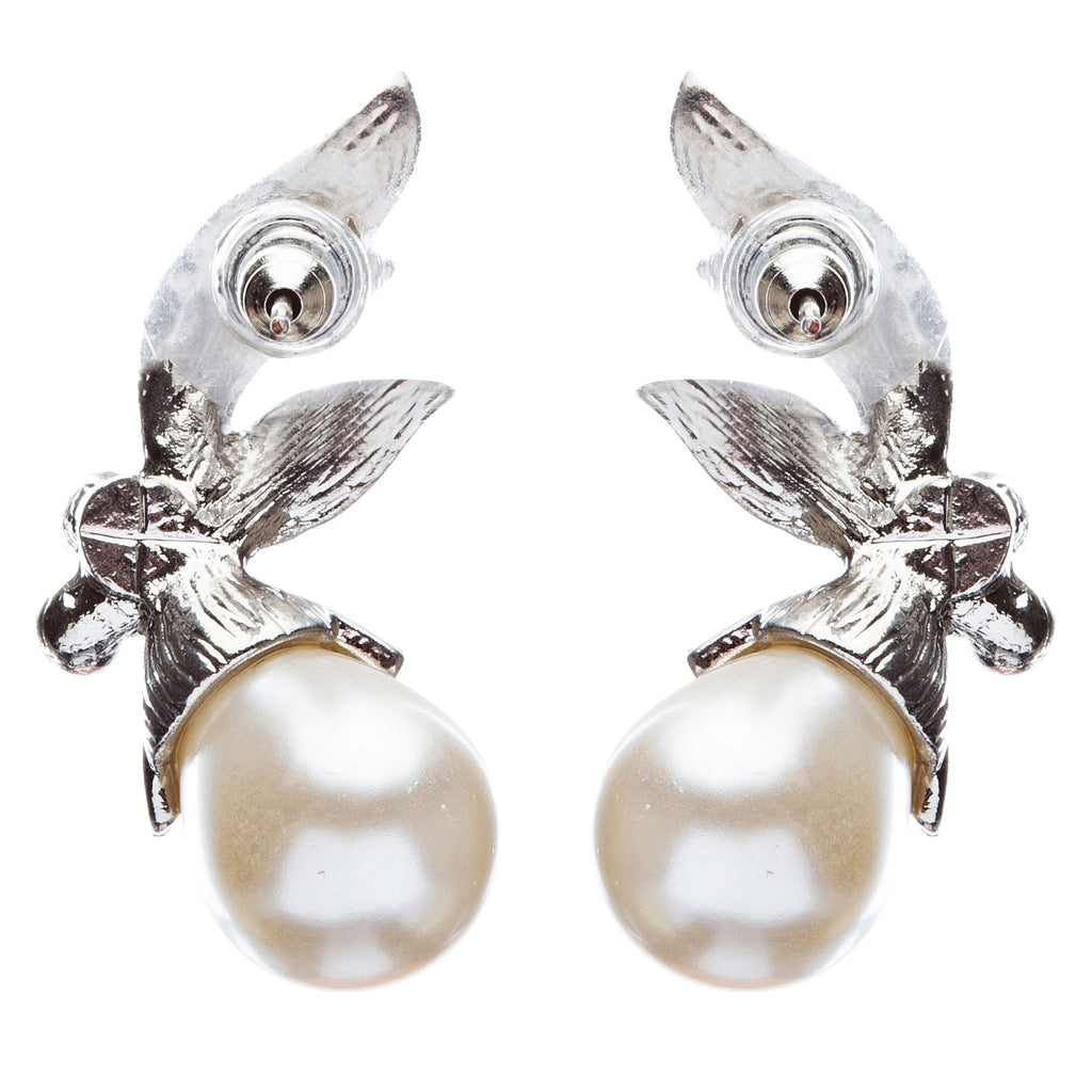 Bridal Wedding Prom Jewelry Crystal Rhinestone Vintage Pearl Earrings E434