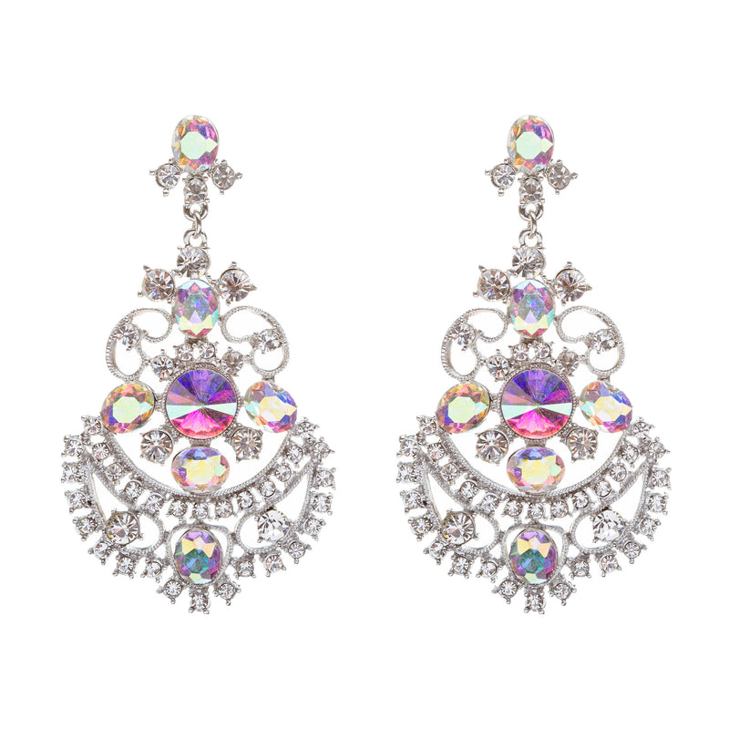 Bridal Wedding Jewelry Crystal Rhinestone Glimmer Dangle Earrings ER658 AB