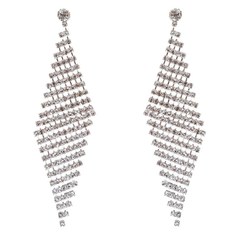 Bridal Wedding Prom Jewelry Crystal Rhinestone Cascade Dangle Earrings E709