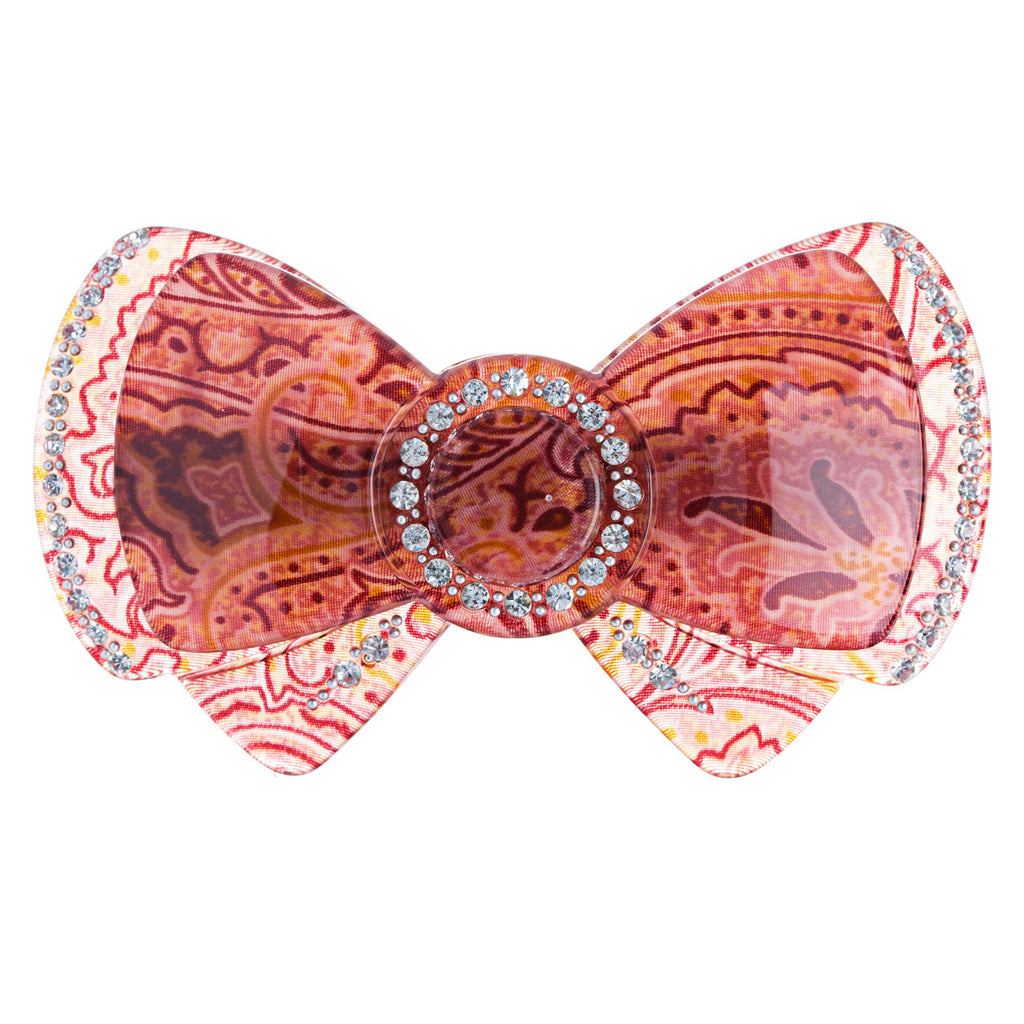 Woman Fashion Hair Barrette Clip Ribbon Pink Red NEW
