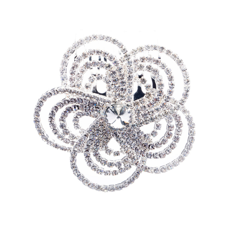 Bridal Wedding Jewelry Crystal Rhinestone Luxurious Floral Design Hair Comb Pin