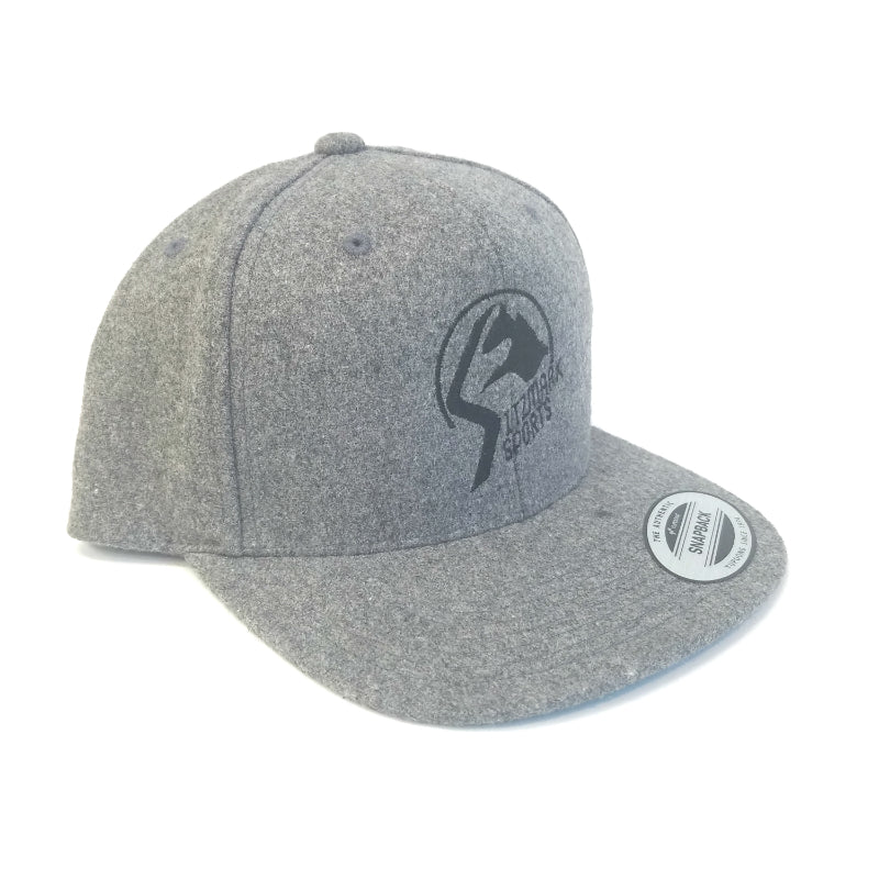 Sitzmark Sports Mountain Logo Wool Snapback Hat