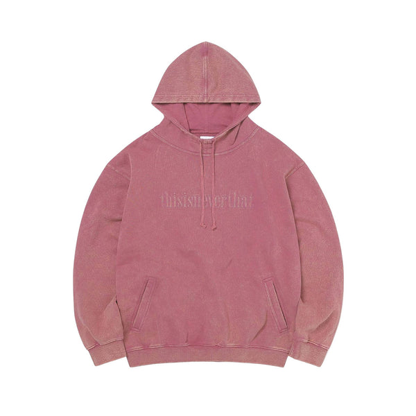 Thisisneverthat Washed Embroidery Hoodie (Dusty Rose)