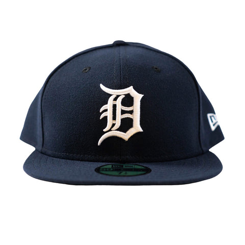 Detroit Tigers Home Fitted Hat (Navy/White)