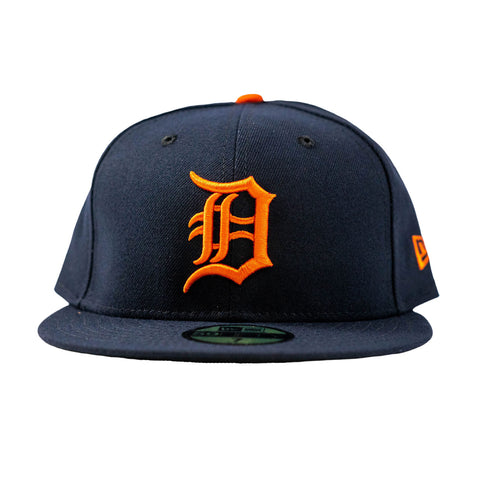 Detroit Tigers 2018 Away Fitted Hat (Navy/Orange)