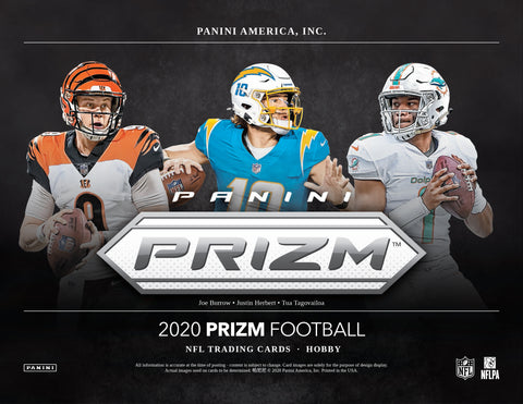 2020 Panini Prizm Football 1 Hobby Box Random Team Break #25
