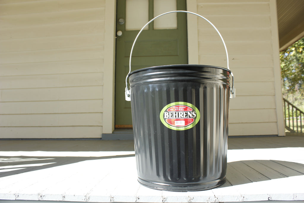 7.5 Gallon Black Ash Pail