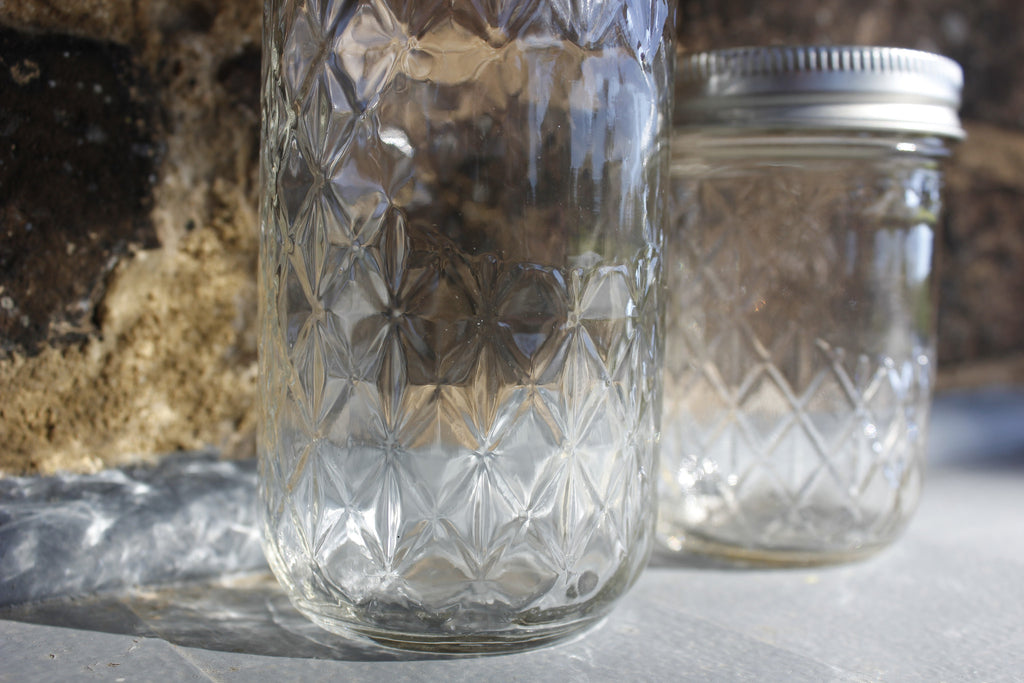 Quilted Crystal Jar