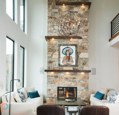 Dolan Geiman artwork. Photo by Richer Images for Icon Homes