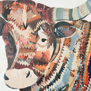 thumbnail for The Longhorn Paper Collage Art