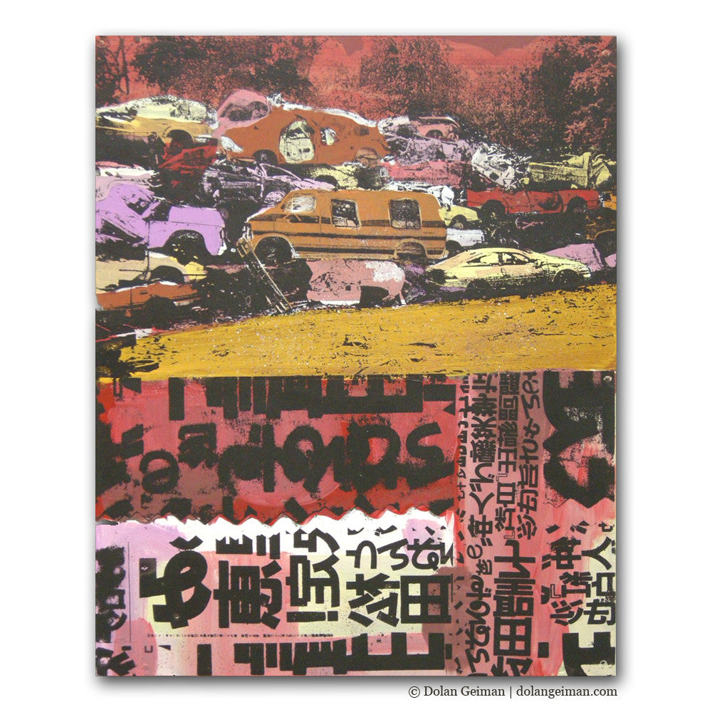 Scrapyard Collection Screenprint Car Art