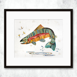 thumbnail for WHSL - Trout, Jumping Rainbow Art Print