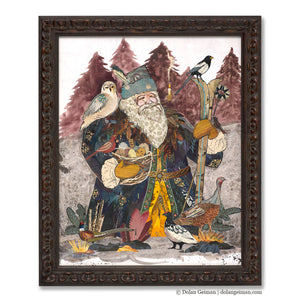 thumbnail for 2019 St. Nicholas Santa Claus Original Paper Collage