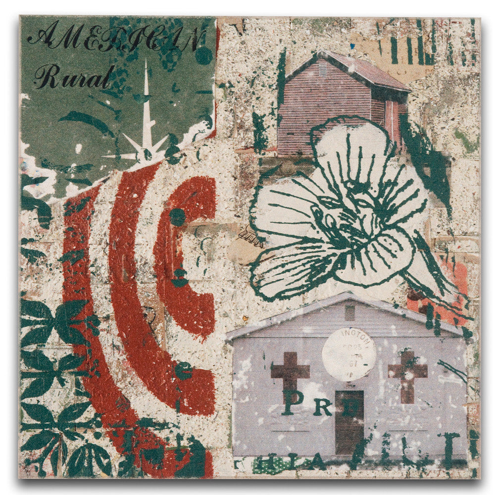 American Rural I Mixed Media Collage