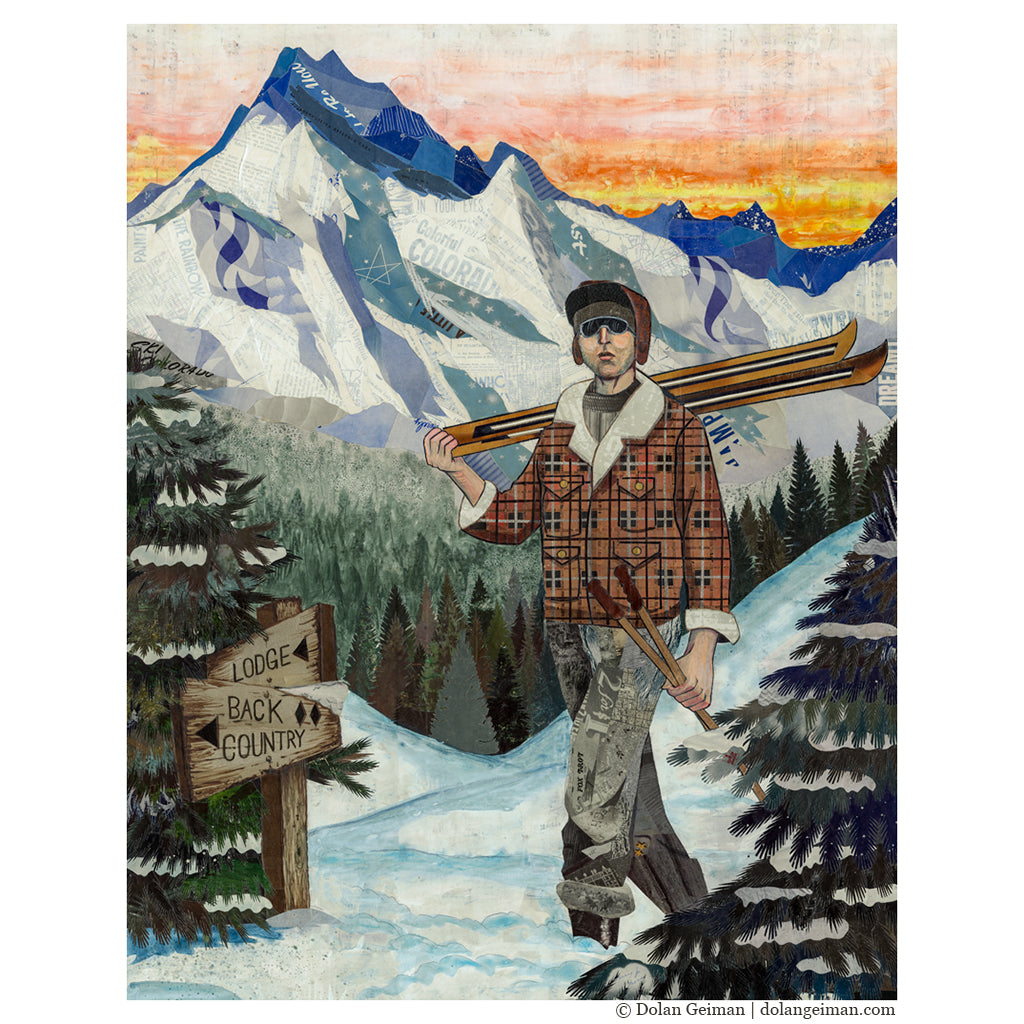 Backcountry Skier Art Print