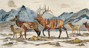 thumbnail for Headed Home Elk Art Print