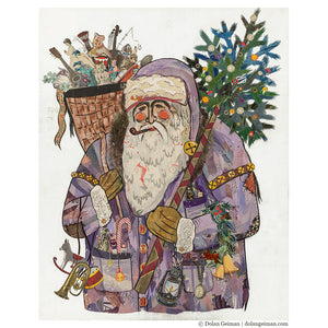 thumbnail for St. Nicholas Santa Claus Original Paper Collage