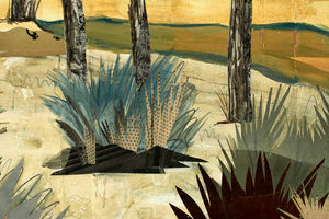 thumbnail for Across the Golden Mesa Longhorn Windmill Original Paper Collage