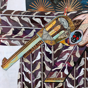 thumbnail for Large Adelita (Eggplant) Original Paper Collage
