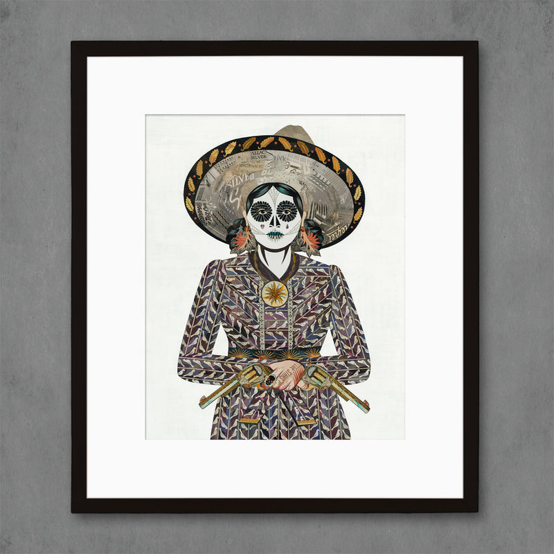 main image for Adelita (Eggplant) Cowgirl Art Print
