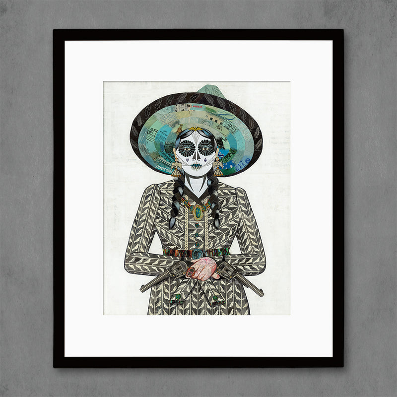 main image for Adelita (Gray) Cowgirl Art Print