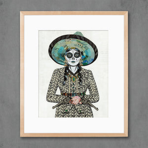 thumbnail for Adelita (Gray) Cowgirl Art Print