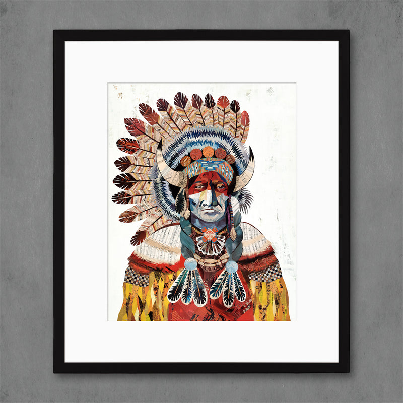 main image for American Heritage Chief Bison Art Print