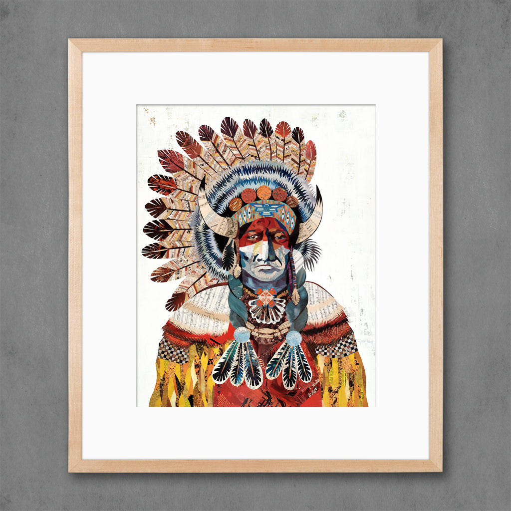 American Heritage Chief Bison Art Print