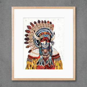 thumbnail for American Heritage Chief Bison Art Print
