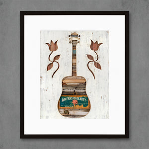 thumbnail for American Beauty Folk Guitar Art Print