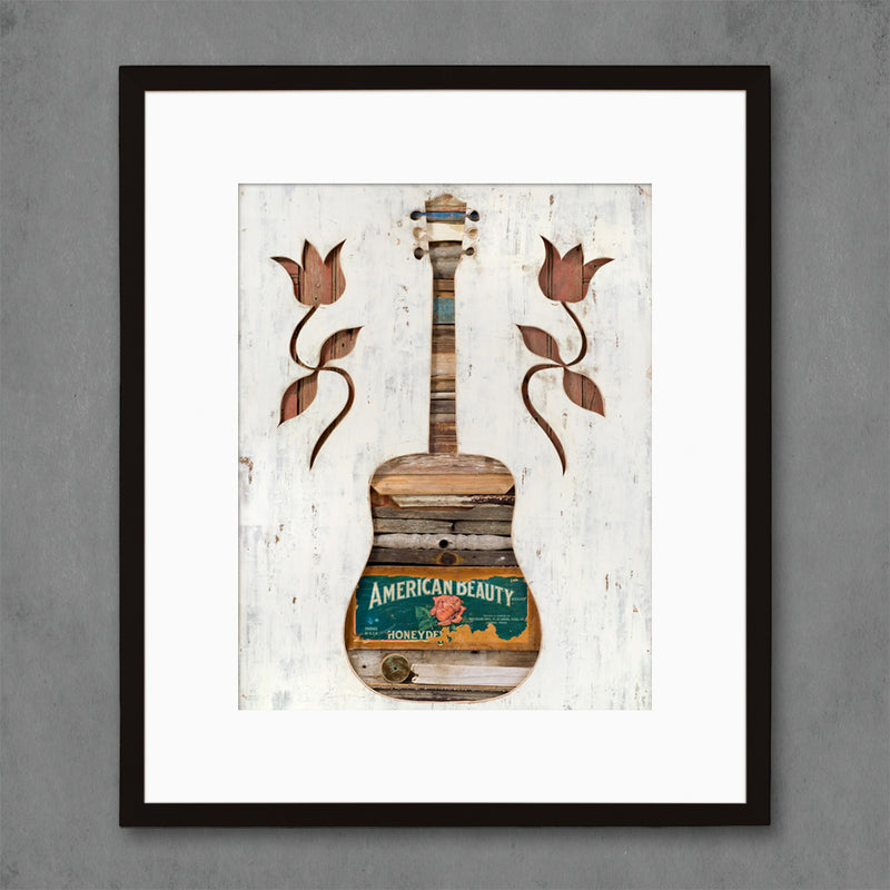 main image for American Beauty Folk Guitar Art Print