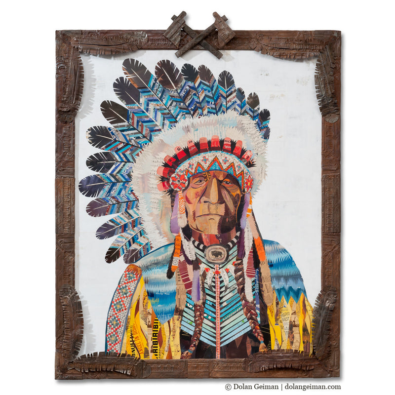 main image for American Heritage Chief II Paper Collage Art