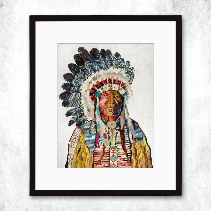 main image for WHSL - Chief (White) Art Print