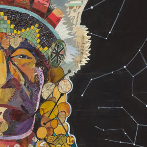 thumbnail for American Heritage Chief (Constellation) Paper Collage Art